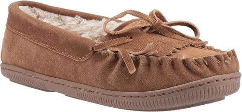 Hush Puppies Addy Classic Ladies Slippers Tan